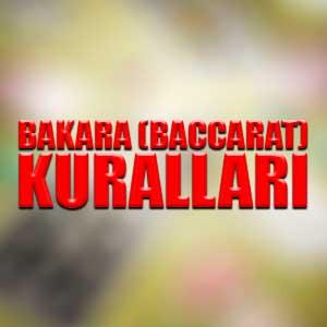 Bakara (baccarat) kuralları